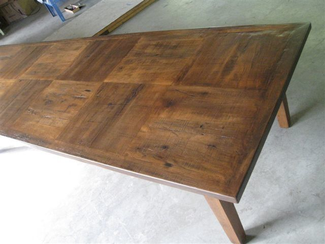 Custom Made 12 Foot Dining Table With Square Inlay