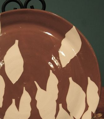 Custom Made Handmade Ceramic Silhouette Plate