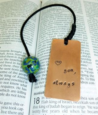 Custom Made Love You Always Bookmark With Polymer Clay Beading