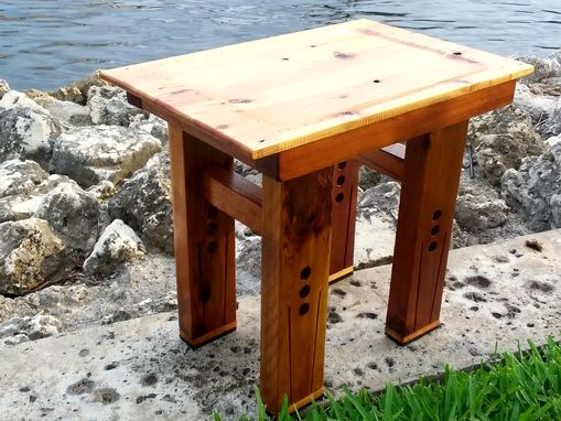 Custom Made Cedar Side Table