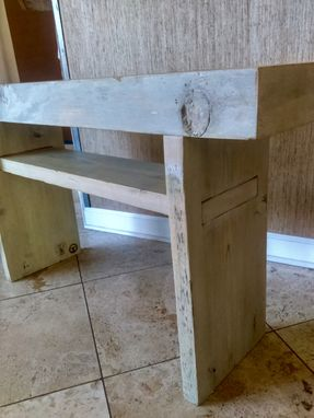 Custom Made Reclaimed Small Sea Blue Table