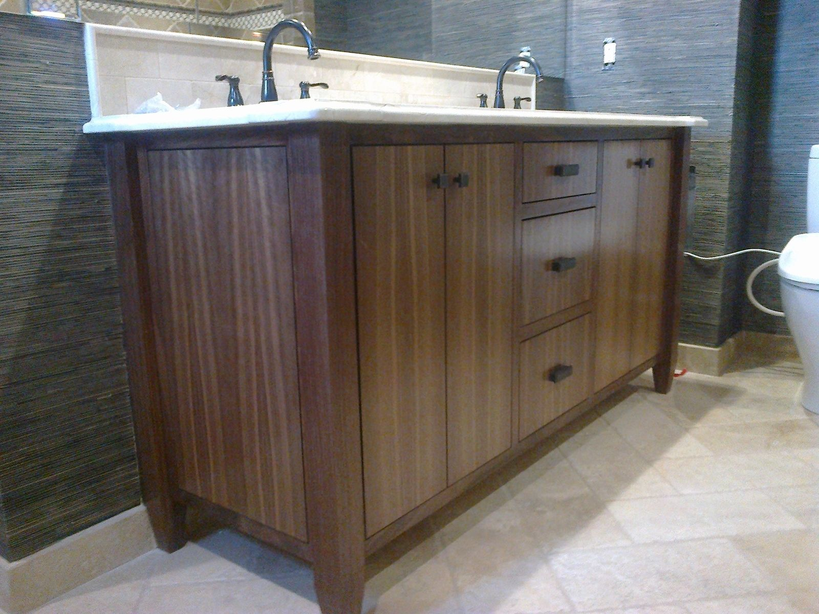 Custom Made Modern Walnut Bath Vanity By Dennisbilt
