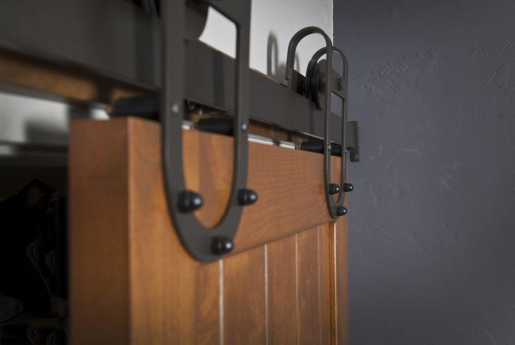 Custom Interior Barn Door Hardware Western Track Installation By