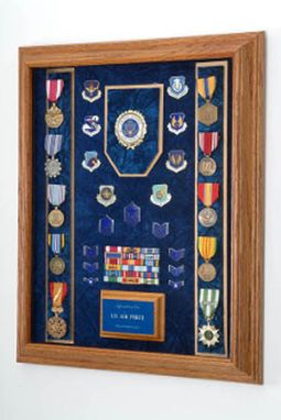 Custom Made Awards Display Case - Military Awards Display Case