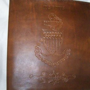 Custom Leather Coast Guard Cpo Charge Book By Kerry Phipps