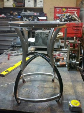 Custom Made Bike Wheel Stool