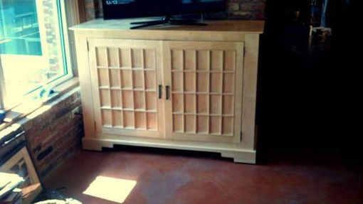 Custom Made Solid Maple Tv Console Or Sideboard