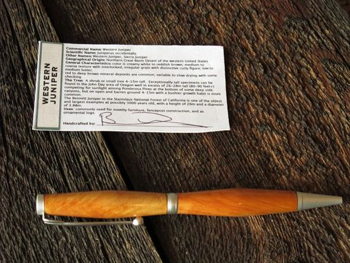 Custom Made Custom Built Wooden Rollerball Slim Twist Pen