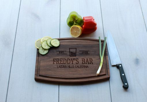 Custom Made Personalized Cutting Board, Engraved Cutting Board, Wedding Gift – Cba-Wal-Freddy's Bar Classic