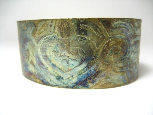 Custom Made Heart Acid Etched Cuff