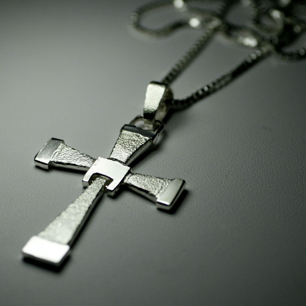 Custom made cross necklace by earth art gem jewelry for Black and blue jewelry cross necklace