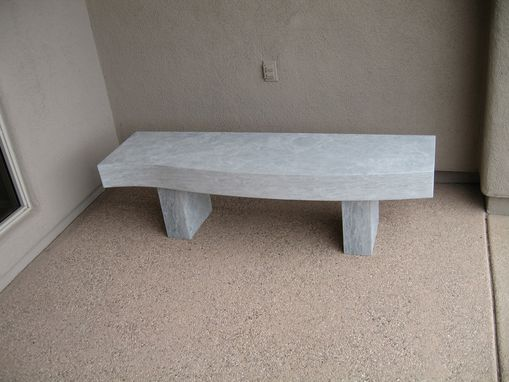 "Custom Made ""Elegance"" Curved Stone Bench"