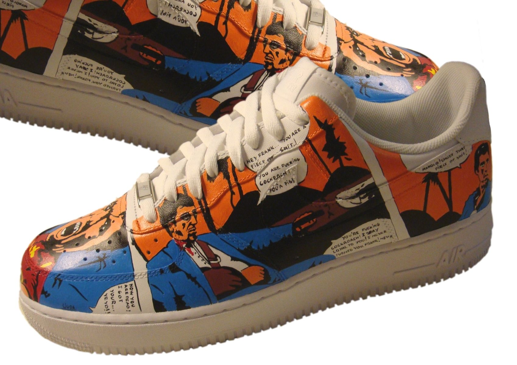 a944ccac0de0 Custom Made Scarface Tony Montana Air Force 1  Custom Air Force 1  Hand  Painted