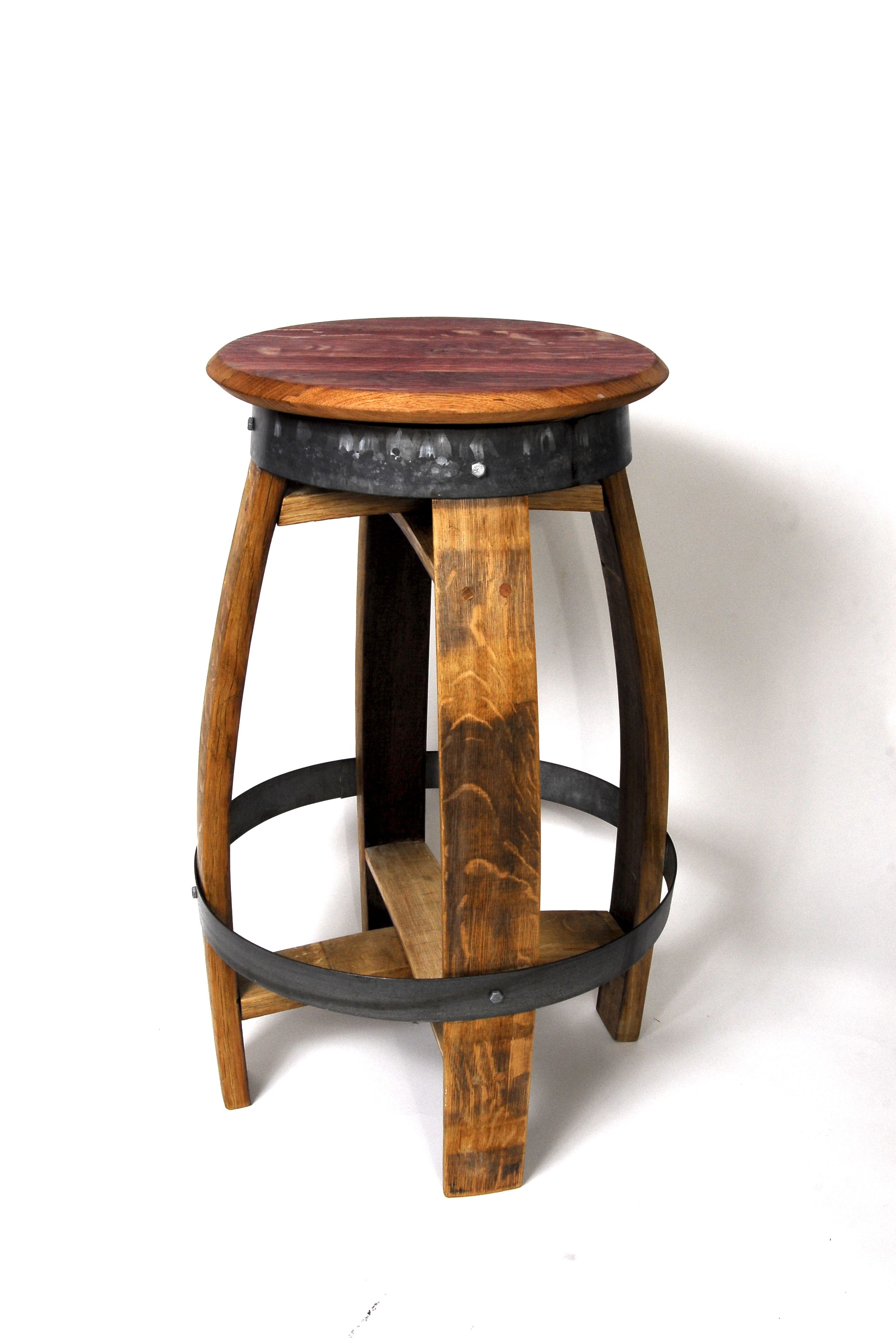 Buy Custom Made Rustic Swiveling Wine Barrel Barstools Made To