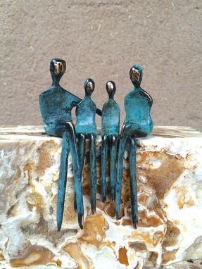 Custom Made Family Of Four, Bronze Sculpture