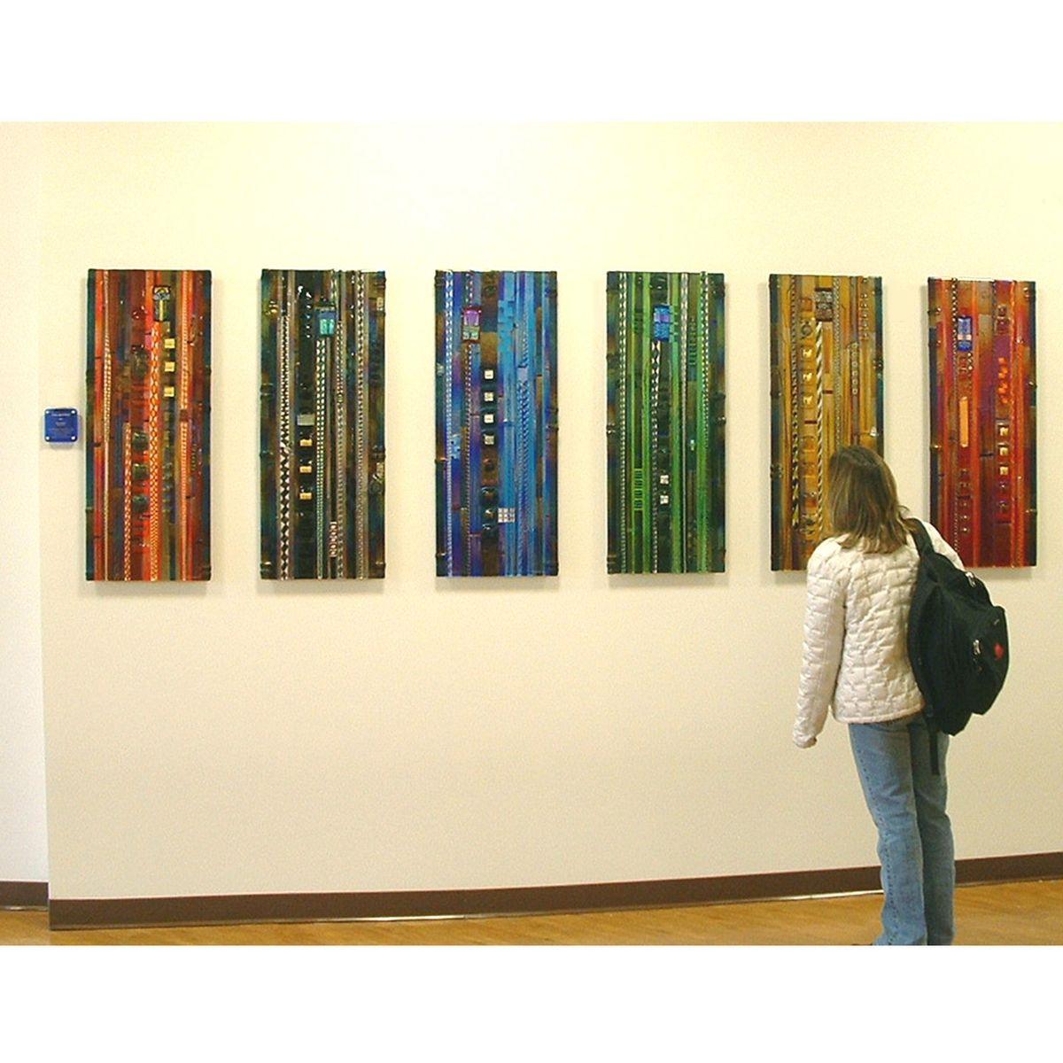 Colorado Mesa University: Hand Made Colorado Colors, Glass Wall Panel Installation