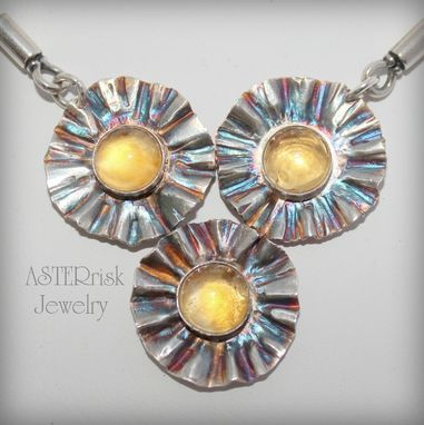 Custom Made Silver And Citrine Necklace
