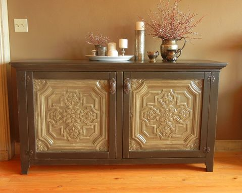 Custom Made Ruth's Pressed Tin Console