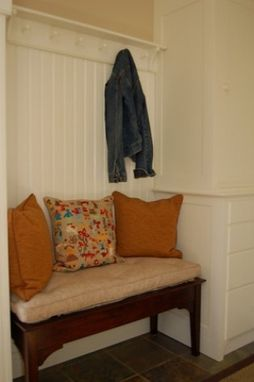 Custom Made Mud Room Cabinets And Bench
