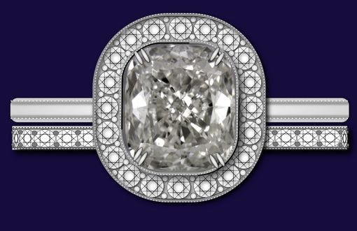 Custom Made Diamond Solitaire Ring