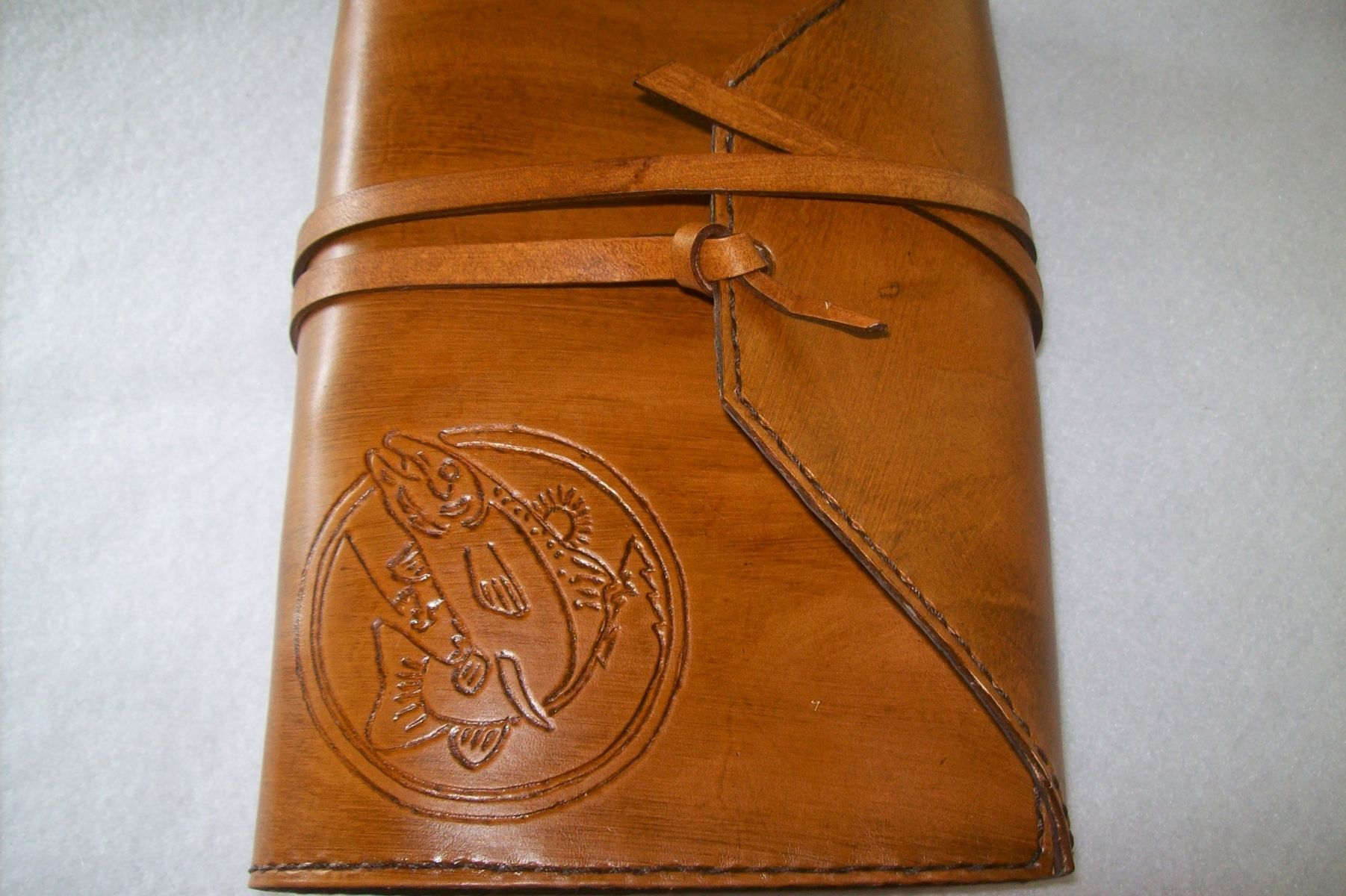 Buy A Hand Crafted Custom Leather Fishing Journal Made To