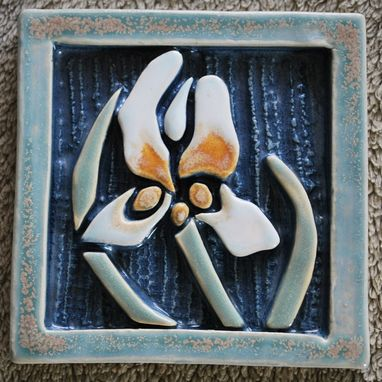 Custom Made Iris Tile #1