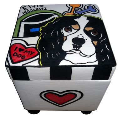 Custom Made I Love My Dog Box Urn