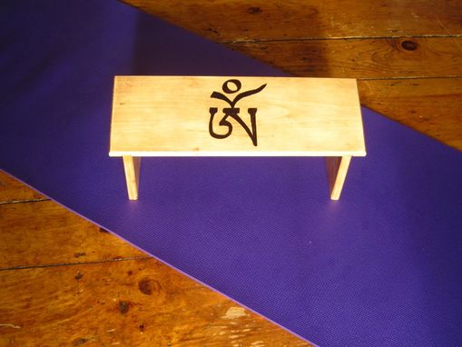Custom Made Ancient Om Meditation Bench