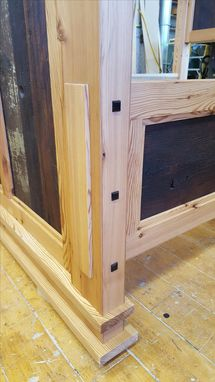 Custom Made Reclaimed Pine Bed