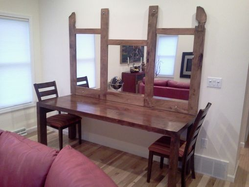 Custom Made Parsons Dining Table & Mirror