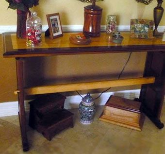Custom Made Walnut And Cherry Entry / Foyer Table