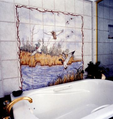 Custom Made Mallard Landscape Mural