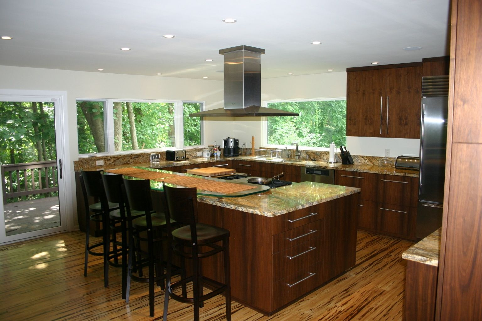 Hand Crafted Modern Walnut Kitchen By Gardner Woodworking