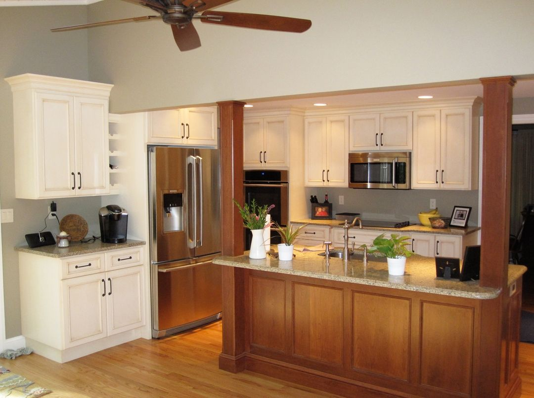 Hand Made Custom Kitchen And Island In Traditional Style