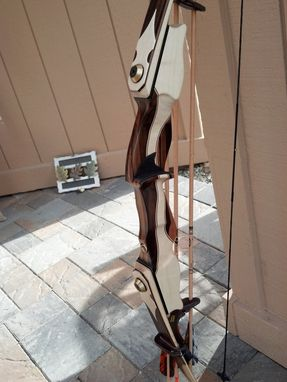 "Custom Made Recurve Archery Bow. Take Down 62"" Amo Fiberglass Recurve Archery Bow."