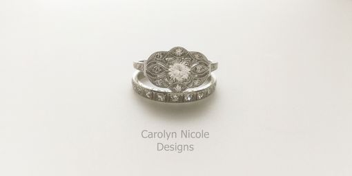 Custom Made Antique Sapphire Engagement Ring