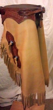 Custom Made Butter Soft Deer Tanned Cowhide Chinks.