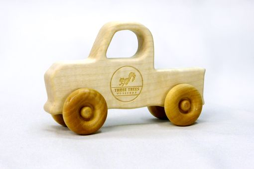 Custom Made Wooden Truck Push Toy - Customized With Name