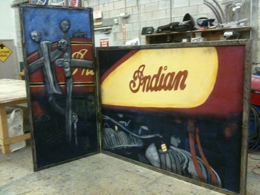 Custom Made Indian Motorcycle Booth Backing