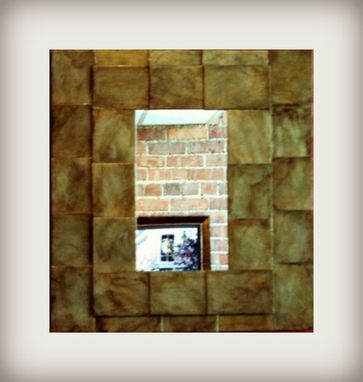 Custom Made Recycled, Antiqued, Steel Shim Mirror