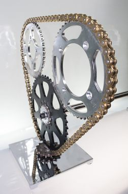 Custom Made Motorcycle Sprocket Coffee Table Base