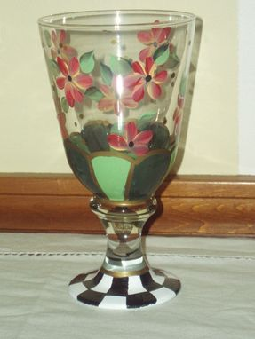 Custom Made Hand Painted Stemware And Pitcher