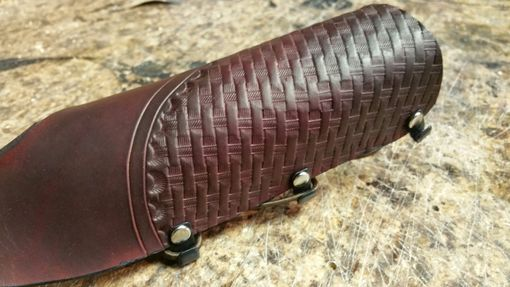 Custom Made Hand Tooled Leather Bow-Hand Glove & Arm Guard