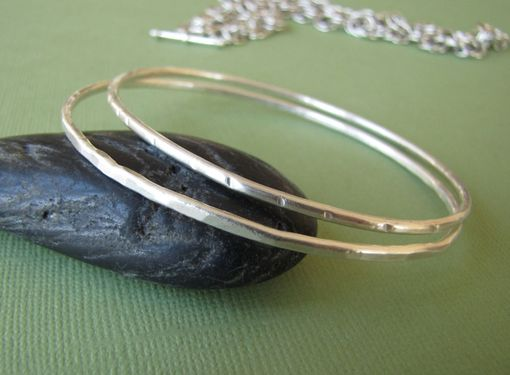 Custom Made Silver Bangle. Sterling Silver Bracelet.