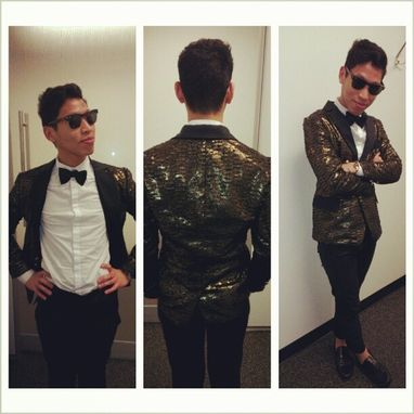 Custom Made Mans Black And Gold Evening Dress Jacket