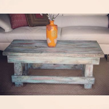 Custom Made Rustic Coffee Table // Solid Wood // Handmade // Color Of Your Choice