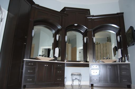 Custom Made Custom Master Bath Cabinets