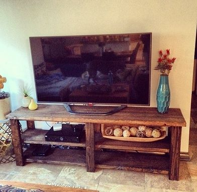 Custom Made 6ft Rustic Barn Style Tv Stand / Sofa Table / Entrance Table