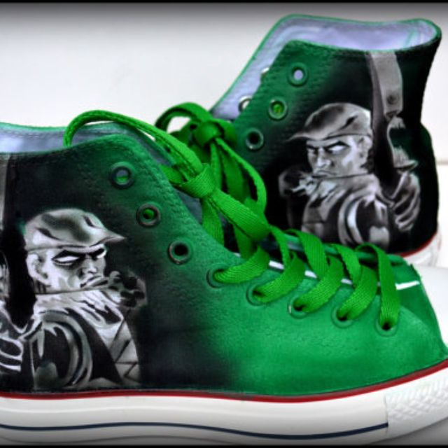 c16d27c358 Buy Hand Made Green Arrow Sneakers