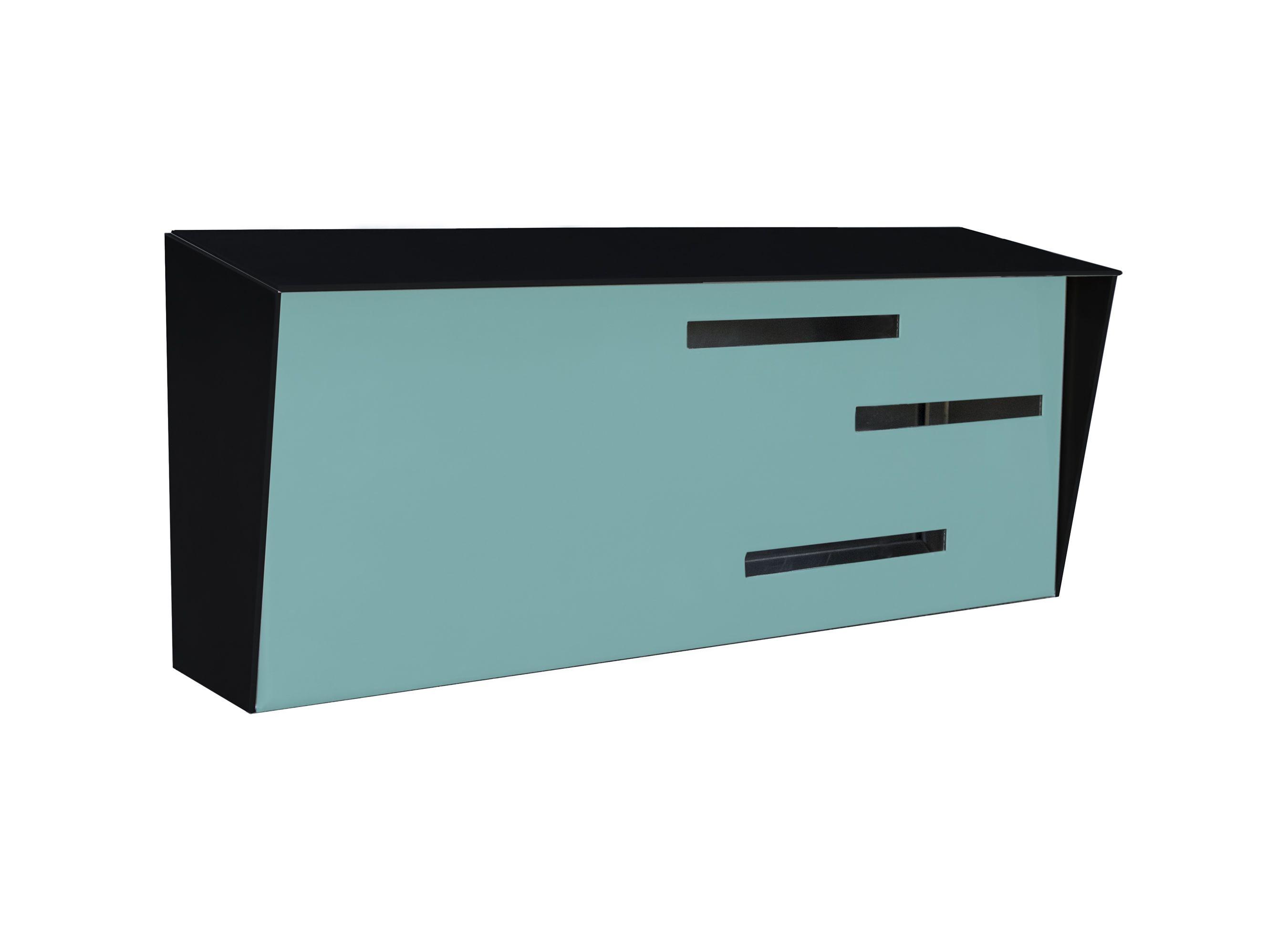 Custom made modern mailbox mid century modern mailbox authentic black